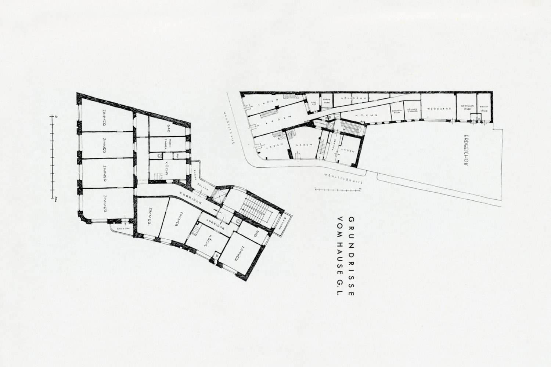Historické půdorysy Linkeho domu v Jablonci nad Nisou