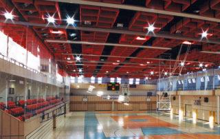 Městská sportovní hala v Jablonci nad Nisou - hlavní plocha s ochozy pro diváky