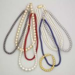 Skleněné voskované perle – náhrdelníky