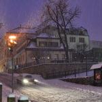 Hotel Zlatý lev - zimní foto