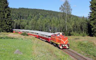 Historický vlak na unikátní ozubnicové trati tzv. zubačka