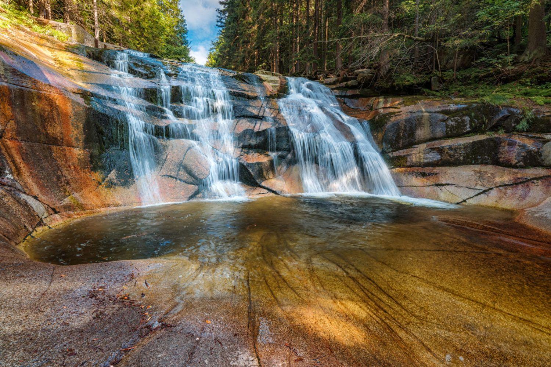 Mumlavský vodopád v létě, Harrachov