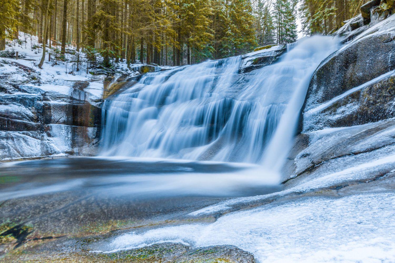 Mumlavský vodopád v zimě, Harrachov
