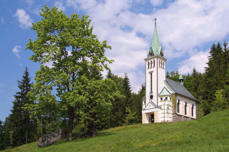 Kostel sv.Antonína Paduánského v Bedřichově - Jizerské hory