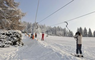 Vlek na sjezdovce Severák ve Ski aréně Jizerky