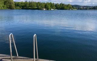 Dřevěné molo na přehradě v Jablonci nad Nisou - Mšeno