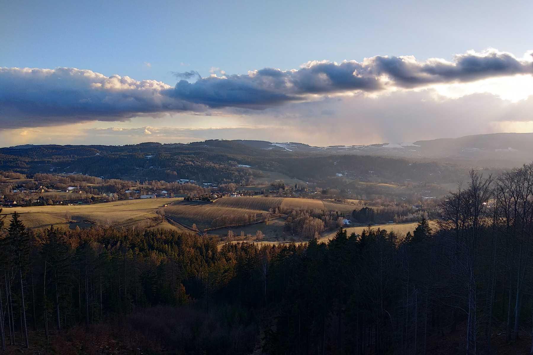 Výhled z terasy Chaty nad Prosečí - Jablonecko, Liberecko