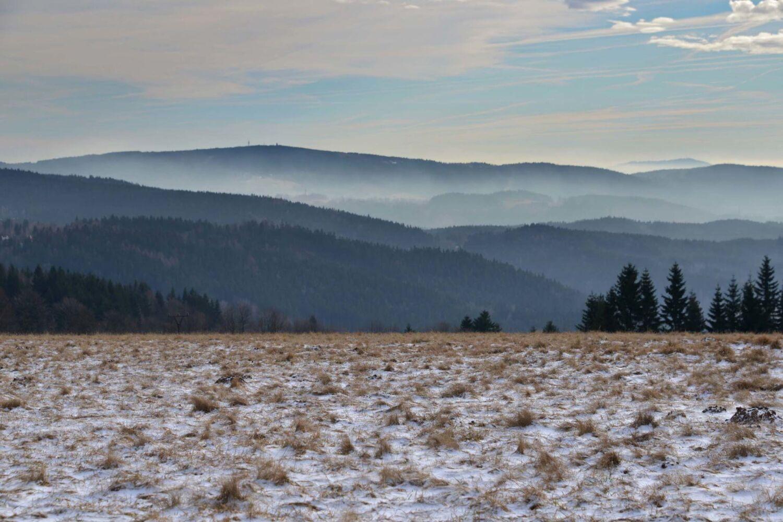 Pohled do zimní krajiny pod Černou studnicí- Kittelův kraj.