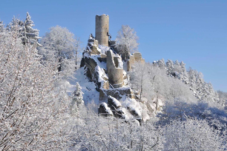 Hrad Frýdštejn v zimě