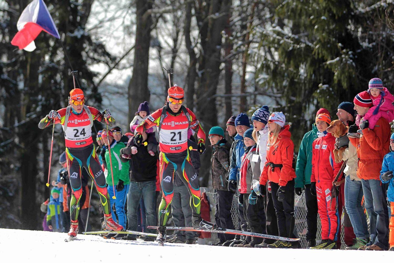 Biatlonový závod v Jablonci. Michal