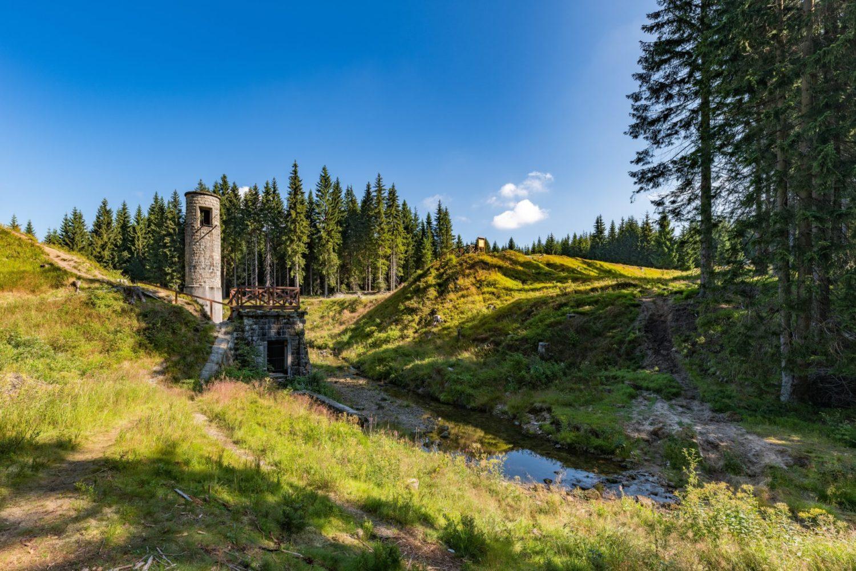 Protržená přehrada v Jizerských horách - současný stav po rekultivaci