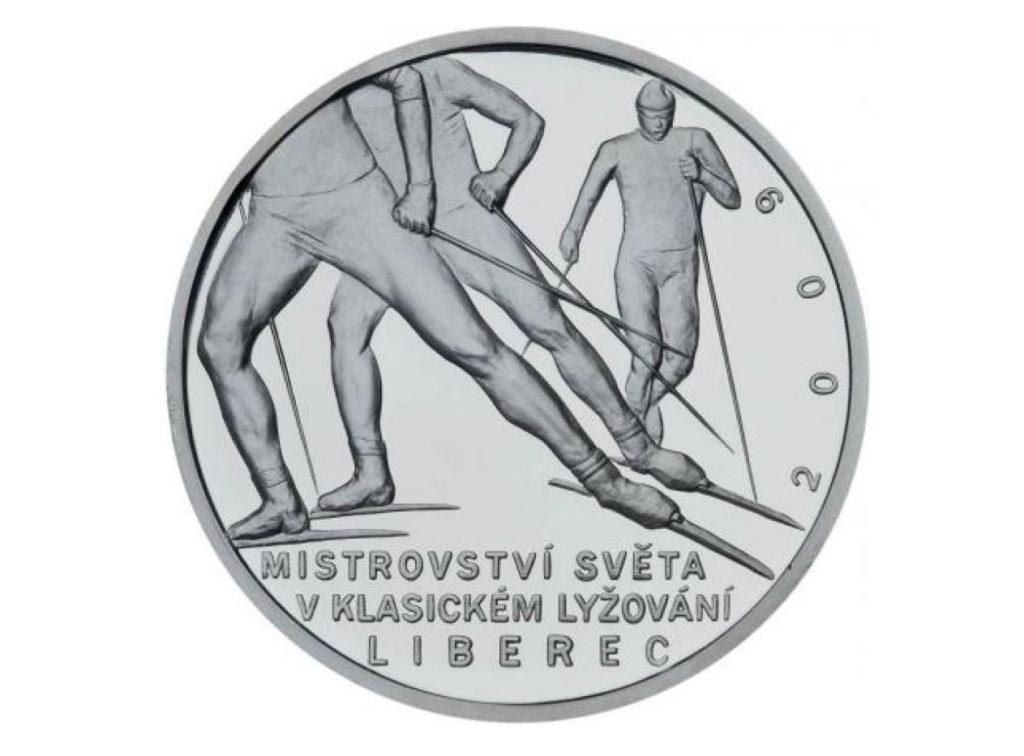 Návrh medaile k MS v klasickém lyžování v Liberci - absolventská práce na SUPŠ a VOŠ v Jablonci nad Nisou