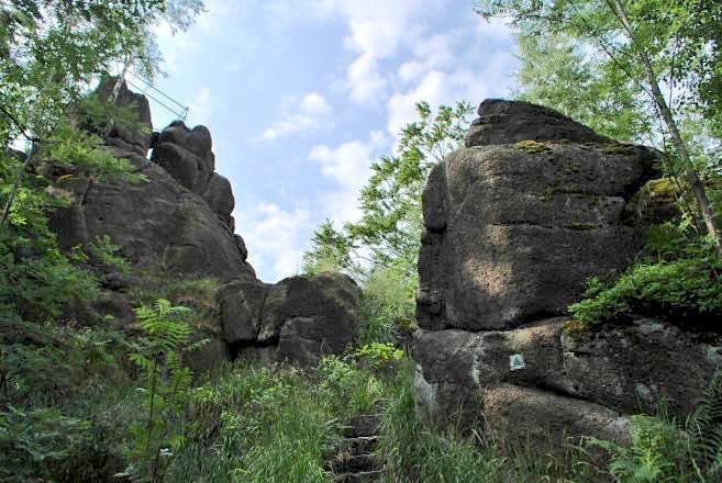 Skála Trniště s vyhlídkou - Janov nad Nisou, Jizerské hory