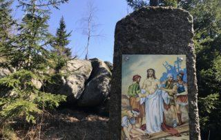 Křížová cesta na rozhlednu Slovanka -
