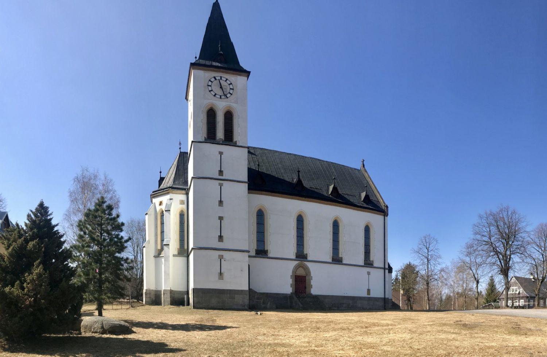 Bílý kostel v Horním Maxově - Jizerské hory