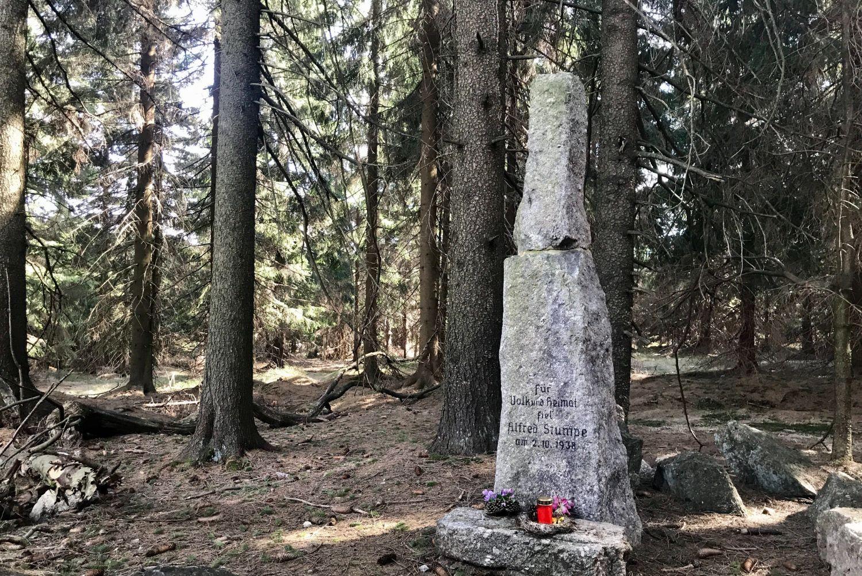 Stumpeho kámen v Jizerských horách