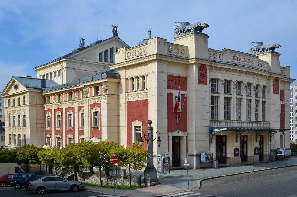Budova Městského divadla v jablonci nad Nisou - architektura