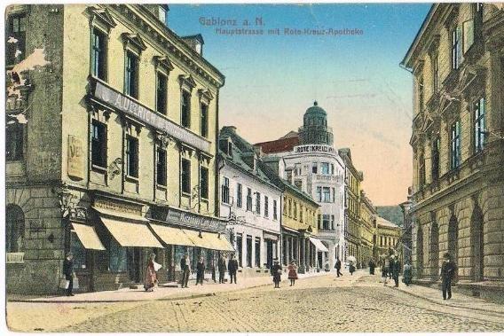 Historický pohled do ul. Komenského v Jablonci nad Nisou
