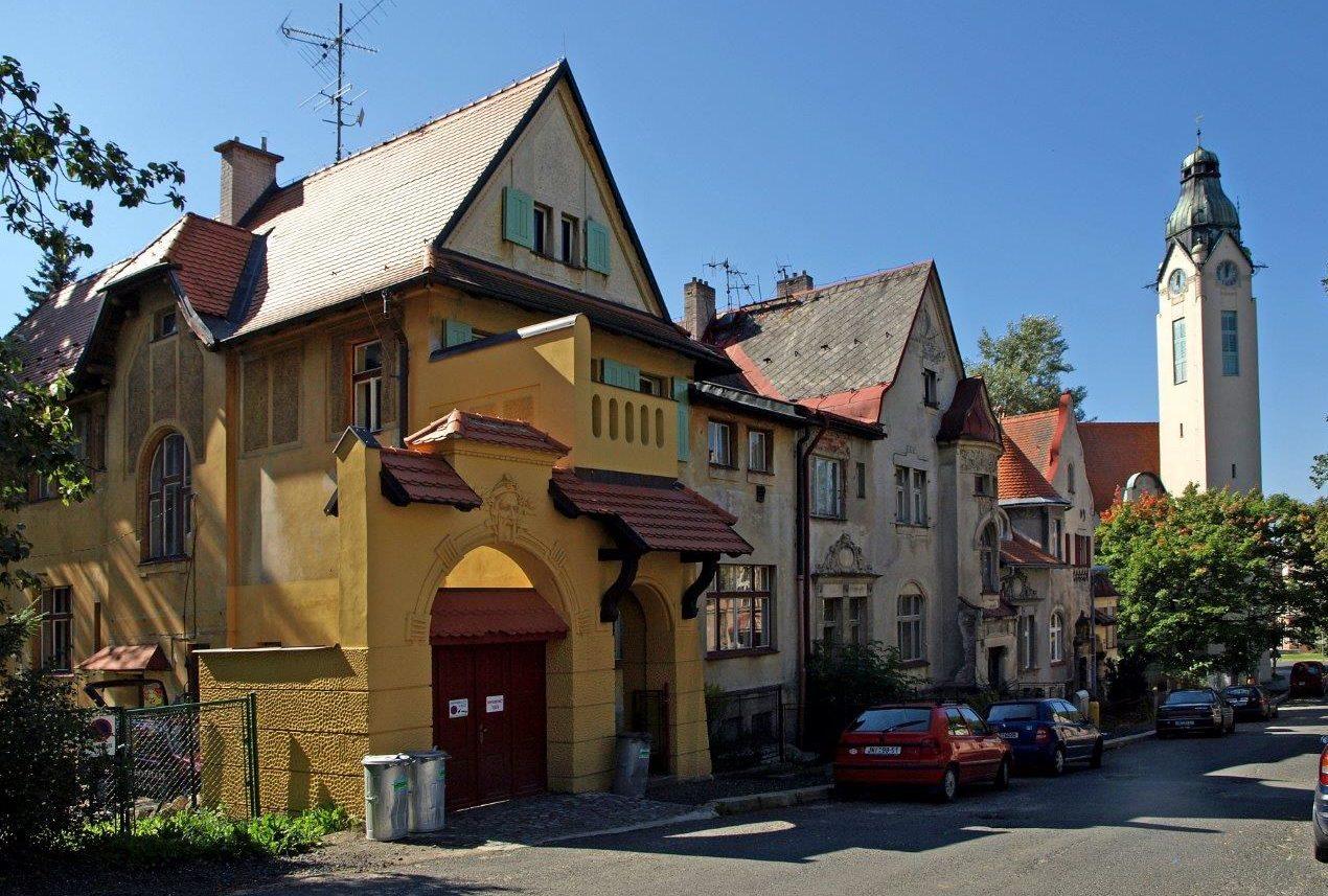 Secesní Scheiblerovy domy v Jablonci nad Nisou v současném stavu