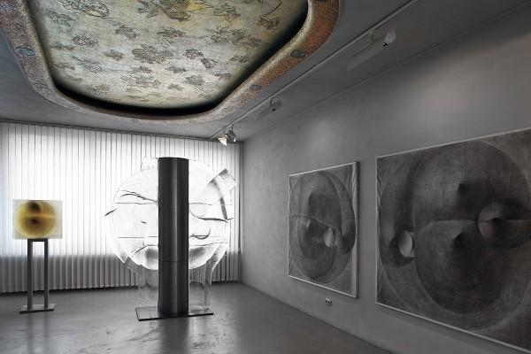 Pohled do interiéru Městského muzea v Železném Brodě - část expozice věnovaná sklářství