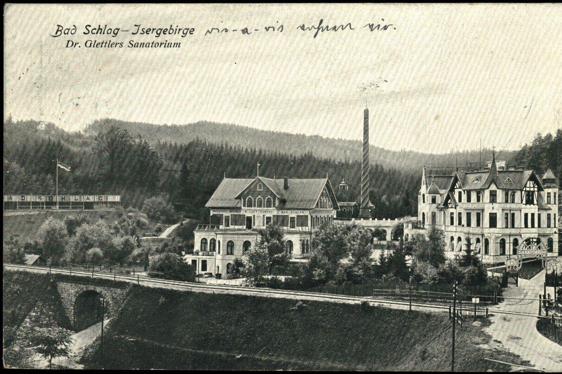 Historické foto Jabloneckých Pasek - Bad Schlag