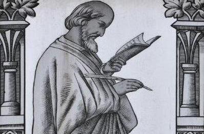 Jan Hus vyobrazený na vitráži